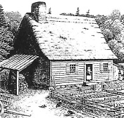 A typical early Acadian house